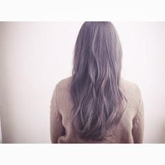 外国人風 アッシュ ミディアム ハイライト ヘアスタイルや髪型の写真・画像