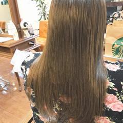 ナチュラル ストレート フェミニン ロング ヘアスタイルや髪型の写真・画像