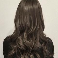 デート グラデーションカラー ロング オフィス ヘアスタイルや髪型の写真・画像
