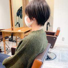 ショートボブ ナチュラル ショートヘア 黒髪ショート ヘアスタイルや髪型の写真・画像