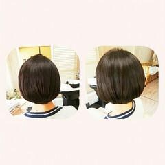 ボブ 縮毛矯正 ナチュラル ヘアアレンジ ヘアスタイルや髪型の写真・画像