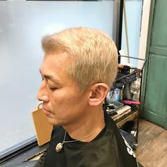 ストリート メンズカラー ブリーチカラー ホワイトアッシュ ヘアスタイルや髪型の写真・画像