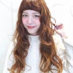 ウェーブ モテ髪 ガーリー ロング ヘアスタイルや髪型の写真・画像
