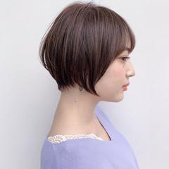 耳掛けショート まとまるボブ 丸みショート ショートヘア ヘアスタイルや髪型の写真・画像