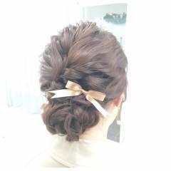 セミロング パーティ ヘアアレンジ 外国人風 ヘアスタイルや髪型の写真・画像