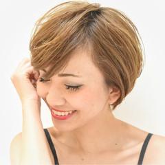 ショート ショートボブ ボブ フェミニン ヘアスタイルや髪型の写真・画像
