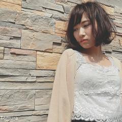 ショートボブ ショート 切りっぱなし 大人女子 ヘアスタイルや髪型の写真・画像