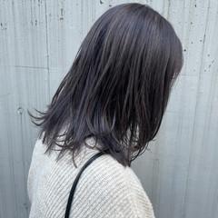 ハイトーン ナチュラル 艶カラー ミディアム ヘアスタイルや髪型の写真・画像