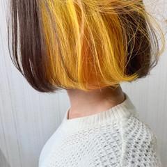 切りっぱなしボブ ストリート ショートボブ ミニボブ ヘアスタイルや髪型の写真・画像