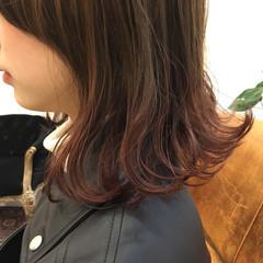 ミディアム 謝恩会 ブリーチ 個性的 ヘアスタイルや髪型の写真・画像