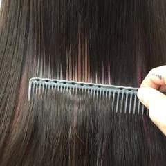 カラフルカラー インナーカラー ハイライト 黒髪 ヘアスタイルや髪型の写真・画像