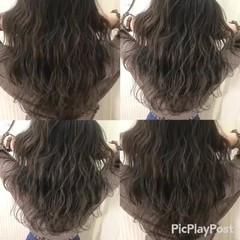 上品 アッシュ エレガント ミディアム ヘアスタイルや髪型の写真・画像