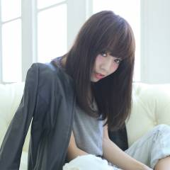 かっこいい 大人女子 黒髪 卵型 ヘアスタイルや髪型の写真・画像