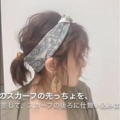 可愛い ナチュラル セルフアレンジ ヘアアレンジ ヘアスタイルや髪型の写真・画像