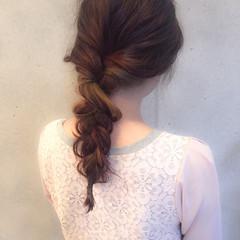 ヘアアレンジ ロング レッド 外国人風 ヘアスタイルや髪型の写真・画像