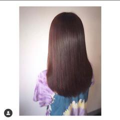 縮毛矯正 髪質改善トリートメント ロング トリートメント ヘアスタイルや髪型の写真・画像