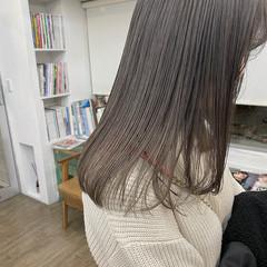 ナチュラル ミルクティーベージュ ラベンダーカラー ラベンダーグレージュ ヘアスタイルや髪型の写真・画像