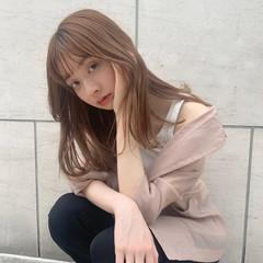 ブリーチ必須 韓国ヘア 外国人風カラー ナチュラル ヘアスタイルや髪型の写真・画像