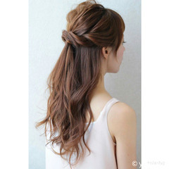 ゆるふわ ロング フェミニン ヘアアレンジ ヘアスタイルや髪型の写真・画像
