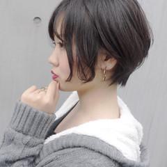 ショート ストリート 秋冬ショート 小顔ショート ヘアスタイルや髪型の写真・画像