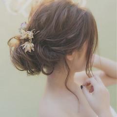 外国人風 大人かわいい ゆるふわ ヘアアレンジ ヘアスタイルや髪型の写真・画像