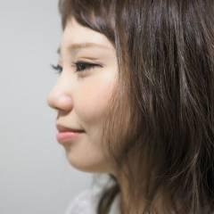 大人かわいい グラデーションカラー セミロング 外国人風 ヘアスタイルや髪型の写真・画像