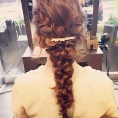ヘアアレンジ ロング 結婚式 個性的 ヘアスタイルや髪型の写真・画像