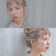 ショート ヘアアレンジ ショートバング ナチュラル ヘアスタイルや髪型の写真・画像