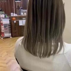 エレガント 外国人風 バレイヤージュ ハイライト ヘアスタイルや髪型の写真・画像