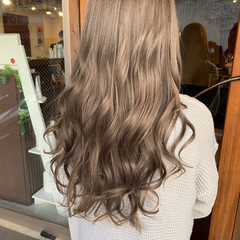 簡単ヘアアレンジ ナチュラル ミルクティーベージュ ミルクティー ヘアスタイルや髪型の写真・画像