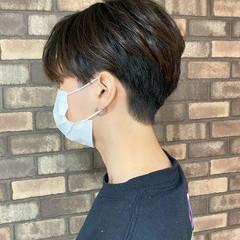 メンズショート ナチュラル ツーブロック ショート ヘアスタイルや髪型の写真・画像