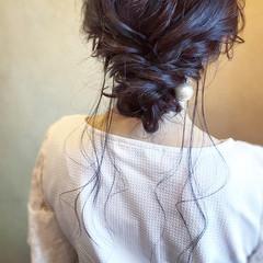 ロング お呼ばれ 簡単ヘアアレンジ ヘアアレンジ ヘアスタイルや髪型の写真・画像