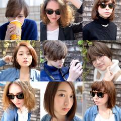 外国人風 ボブ パーマ 簡単 ヘアスタイルや髪型の写真・画像