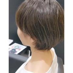 ショート マッシュ ナチュラル ショートヘア ヘアスタイルや髪型の写真・画像