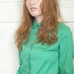 ストリート ハイライト ロング 外国人風 ヘアスタイルや髪型の写真・画像
