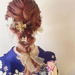 成人式 ヘアアレンジ 成人式ヘア セミロング ヘアスタイルや髪型の写真・画像