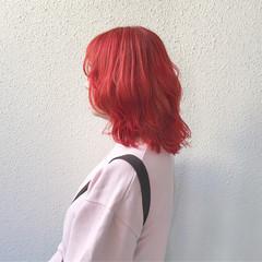 ガーリー ハイトーン 外国人風 ミディアム ヘアスタイルや髪型の写真・画像