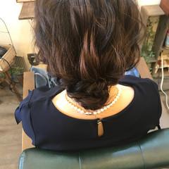 結婚式 ヘアアレンジ ミディアム 簡単ヘアアレンジ ヘアスタイルや髪型の写真・画像