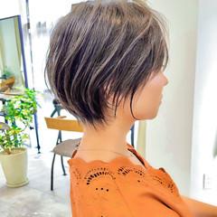 ショート マッシュショート 切りっぱなしボブ ショートボブ ヘアスタイルや髪型の写真・画像