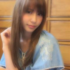 フェミニン モテ髪 ストレート ロング ヘアスタイルや髪型の写真・画像