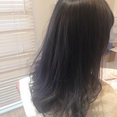 ガーリー グレージュ ミディアム アッシュ ヘアスタイルや髪型の写真・画像
