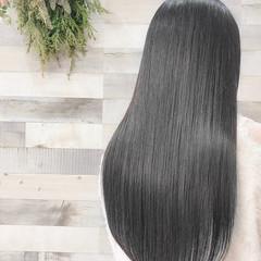 艶髪 グレージュ セミロング コンサバ ヘアスタイルや髪型の写真・画像