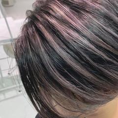 コントラストハイライト グラデーションカラー モード ショートヘア ヘアスタイルや髪型の写真・画像