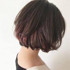 ボブ 外国人風 インナーカラー ストリート ヘアスタイルや髪型の写真・画像