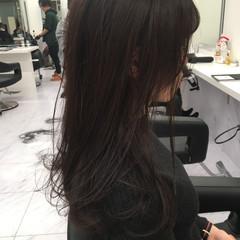 暗髪女子 ダークトーン 暗髪 ナチュラル ヘアスタイルや髪型の写真・画像