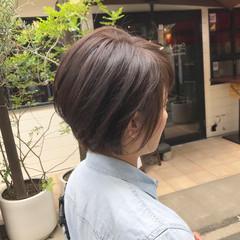 小顔ショート マッシュショート ショートボブ ショート ヘアスタイルや髪型の写真・画像