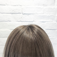 ハイトーン ナチュラル ショート ミルクティー ヘアスタイルや髪型の写真・画像