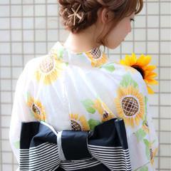 花火大会 ロープ編み ヘアアレンジ 夏 ヘアスタイルや髪型の写真・画像