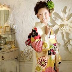 フェミニン 成人式 冬 ヘアアレンジ ヘアスタイルや髪型の写真・画像