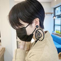 ショート 黒髪ショート ハンサムショート モード ヘアスタイルや髪型の写真・画像